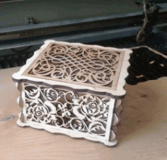 Rose wood Box for Laser Cut DXF File