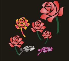 Roses Free Vector CDR File