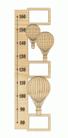 Rostomer Height Chart Laser Cut Design DXF File