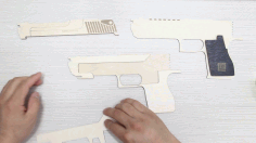 Rubber Band Gun 3mm Plywood Design Laser Cut CDR File