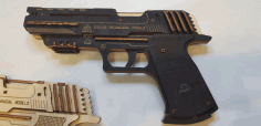 Rubber Band Gun 3mm Plywood Laser Cut CDR File