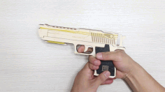Rubber Band Gun 3mm Plywood Template Laser Cut DXF File
