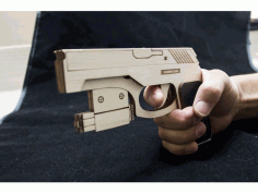 Rubber Band Gun Laser Cut DXF File