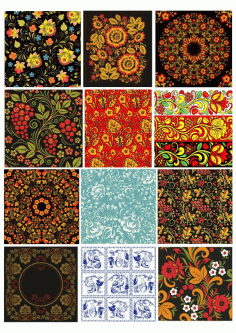 Russian Patterns Set Free CDR Vectors File