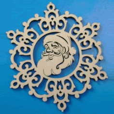 Santa Claus Christmas Ornament Laser Cut CDR File