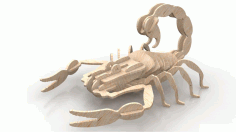 Scorpion Wood Insect 3d Puzzle 6mm Free DXF Vectors File