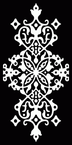 Seamless Arabesque Damask Pattern Laser Cut Free CDR File