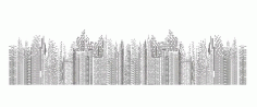 Seamless Cityscape Building Line Art Free CDR Vectors File