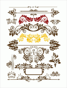 Seamless Floral Decor Free CDR Vectors File