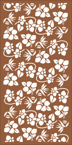 Seamless Floral Pattern for Laser Cutting Free Vector CDR File