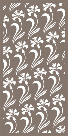Seamless Floral Room Divider Pattern Laser Cut Free Vector CDR File