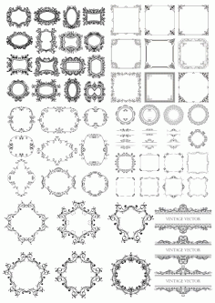 Seamless Frame Decor Set Free CDR Vectors File