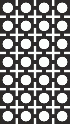 Seamless Square Circle Pattern Vector Free CDR Vectors File