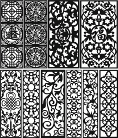 Separator Patterns Free Dxf File for Laser And Plasma Cutting Design 02 DXF File