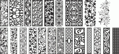 Set of Black and White Seamless Banner Free CDR File