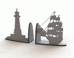 Ship Book Support Laser Cut DXF File