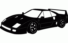 Silhouette Sticker Ferrari Car DXF File