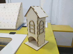 Simple Tea House Plywood Laser Cutter Project CDR File