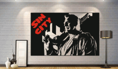 Sin City Poster Wall Decor CDR File