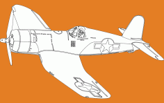 Single Seater Plane Free DXF Vectors File