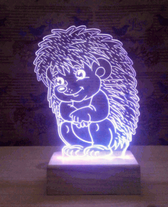 Sitting Hedgehog 3d Lamp Model Free DXF Vectors File