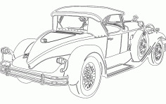 Sketch Vintage Car DXF File