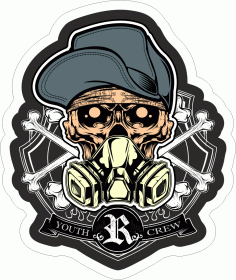 Skull Crew Sticker Download Free Vector CDR File