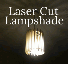 Slatted Lamp Laser Cut DXF File