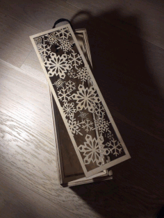 Snowflake Box CNC Laser Cutting Free CDR File
