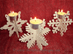Snowflake Candle Holder Free Vector CDR File