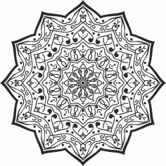 Snowflake Mandala Seamless Panel Free CDR File