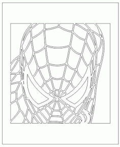 Spider Man Face 3D Led Illusion Free Vector CDR File
