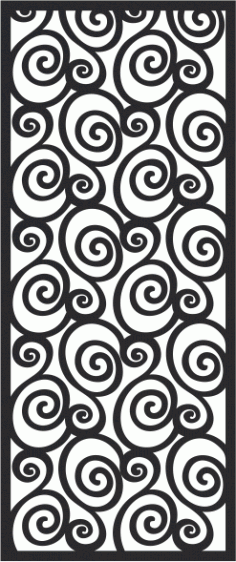 Spiral Metal Grill Seamless Banner Free CDR File