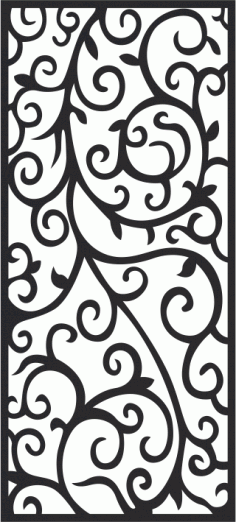 Spiral Vintage Jali Privacy Divider Panel Free CDR File