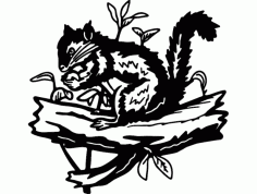 Squirrel and plants Free DXF Vectors File