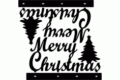 Stand Merry Christmas Decoration Laser Cut DXF File