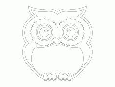 Standing Owl Free Dxf For Cnc DXF Vectors File