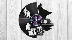 Star Wars Clock Free Vector DXF File