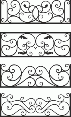 Steel Balcony Rails Laser Cut CDR File