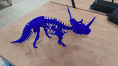 Styracosaurus 3D Puzzle 3mm Laser Cut DXF File