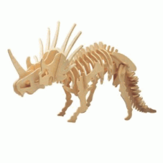Styracosaurus 3D Puzzle Template Laser Cut DXF File