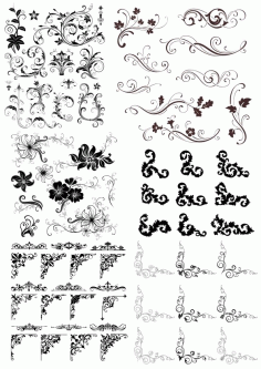 Swirl Decor Elements Set Free CDR Vectors File
