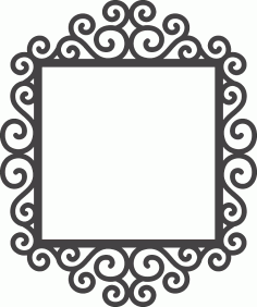 Swirly Frame Laser Cut DXF File