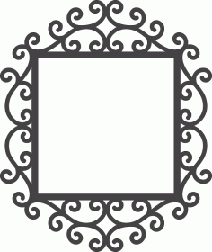 Swirly Mirror Frame Laser Cut DXF File