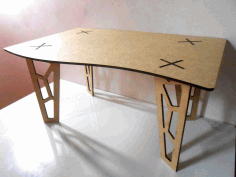 Table 3D Fancy Legs Laser Cut DXF File