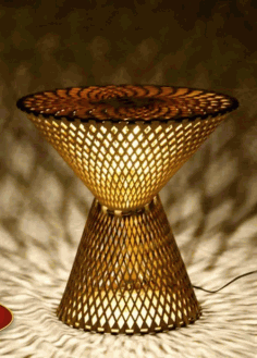 Table Lamp Laser Cut Free CDR Vectors File