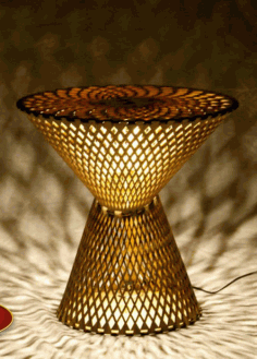 Table Lamp Laser Cut CDR File