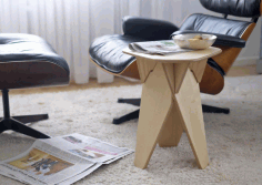 Table Stool CNC Laser Cut Free CDR File