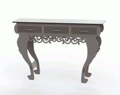 Table with Three Drawers Laser Cut DXF File