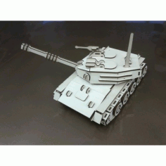 Tank 3D Puzzle Model Laser Cut Laser Cut Template CDR File